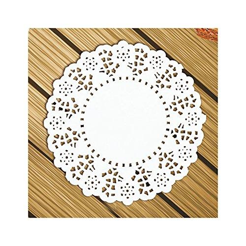 Aspire rund Papier Spitze Deckchen Tischsets für Party Tisch Dekoration 11,4–14cm 140/Pack, 5.5in (Vintage Karte Tischset)