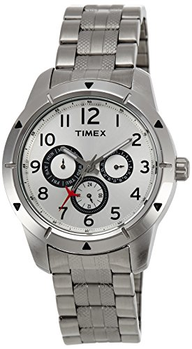 Timex E-Class Analog Silver Dial Men's Watch - I603 image