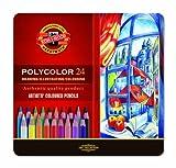 24er Polycolor Farbstifte Künstler Zeichenstifte feinster Qualität von KOH-I-NOOR metallbox Geschenkidee