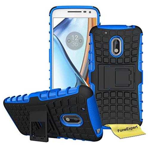 Preisvergleich Produktbild Motorola Moto G4 / G4 Plus Handy Tasche, FoneExpert® Hülle Abdeckung Cover schutzhülle Tough Strong Rugged Shock Proof Heavy Duty Case für Motorola Moto G4 / G4 Plus (Blau)