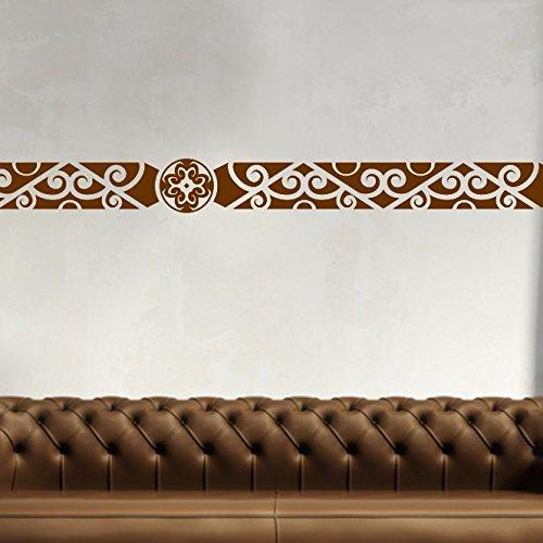 malango Afrikanische Bordüre Wandtattoo Aufkleber Wandaufkleber Dekoration Schlafzimmer Wohnzimmer Styling Design 18 x 131 cm gold