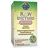 Garden of Life Vegetarisch Verdauungs Ergänzung für Frauen–Raw Enzyme Frauen für Verdauung, Blähungen, Gas und IBS, 90Kapseln