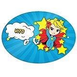Eurofoto Türschild mit Namen Vito und Motiv mit Superheld für Jungen | Kinderzimmer-Schild