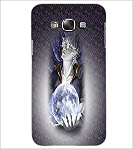 PrintDhaba Cute Girl D-4480 Back Case Cover for SAMSUNG GALAXY E7 (Multi-Coloured)