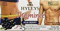 Hyleys Slim Tea Acai Berry 100% Natural, 25 Tea Bags (Pack of 2)