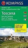 Toscana - Herz der Toskana - Heart of Tuscany - Nel cuore della Toscana: Wanderkarten-Set mit Radrouten. GPS-genau. 1:50000 (KOMPASS-Wanderkarten, Band 2440) -