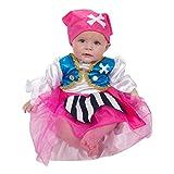 Baby Piraten Kostüm für Mädchen 92 (12-24 Monate) - Piratin Seeräuberin Kostüm - Lucy Locket