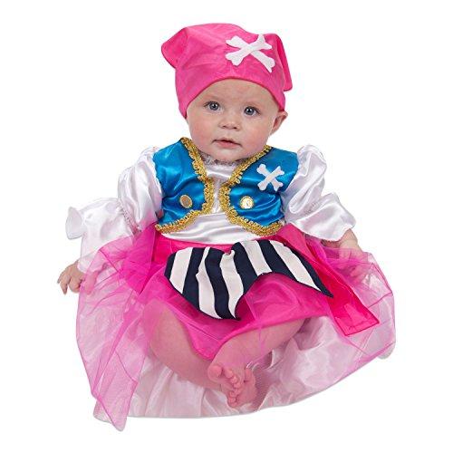 (Baby Piraten Kostüm für Mädchen 92 (12-24 Monate) - Piratin Seeräuberin Kostüm - Lucy Locket)