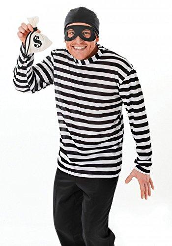 Einbrecher Herren-Kostüm Gr. M/L Dieb Bankräuber Verbrecher Bandit (Kostüme Bankräuber)