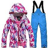 Skianzug| Skibekleidung Für Kinder| Jungen Mädchen Skijacke Und Hose Winddicht Und Wasserdicht Schnee Isoliert Anzug.