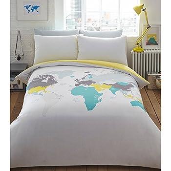 Ben de lisi home multicoloured printed world explorer bedding ben de lisi home multicoloured printed world explorer bedding set gumiabroncs Images