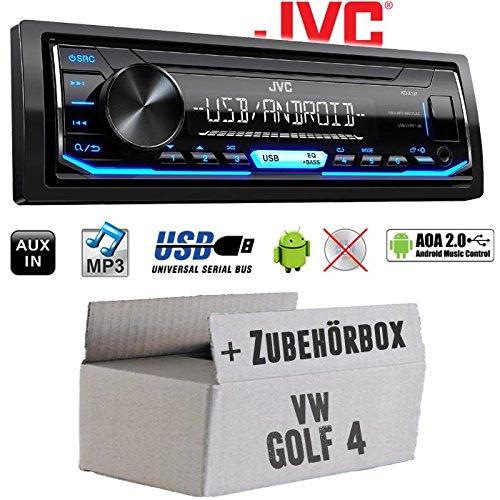 VW Golf 4 IV - Autoradio Radio JVC KD-X151   MP3   USB   Android 4x50Watt - Einbauzubehör - Einbauset