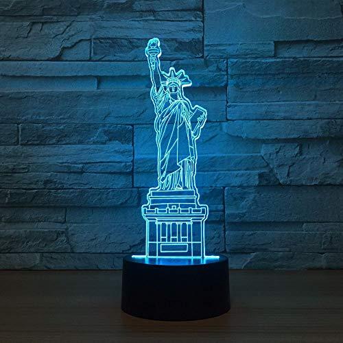 New York City Freiheitsstatue 3D LED Nachtlicht Touch Schreibtischlampe Fernbedienung Home Schlafzimmer Dekor Weihnachtsgeschenk han-8136 -