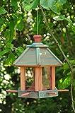 Vogelhaus & Futterstation,wetterfest SKY BLUE (HIMMELBLAU),blau große Futterfläche + Dach,mit ständer,Futterhaus Vögel, für Vögel