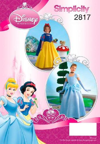 �6–6Schnittmuster baumharzsteine 2817Kind und Mädchen Kostüme (Cinderella Halloween-kostüm-muster)