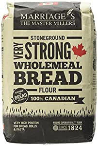Marriages 100 Percent Canadian Very Strong Wholemeal Flour 1.5 Kg (Pack of 5)