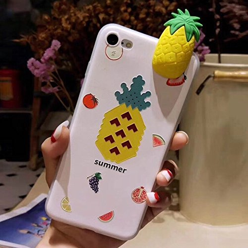 YWX Für iPhone 8 & 7 Fashion Papa Fruit Ananas Muster Schutzhülle Rückseite Case Mode Handyhülle