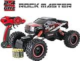 Rock Crawler Telecomandato Rock Master - Rosso - Automobile Telecomandata per Bambini 4x4 - con Telecomando a 2,4Ghz