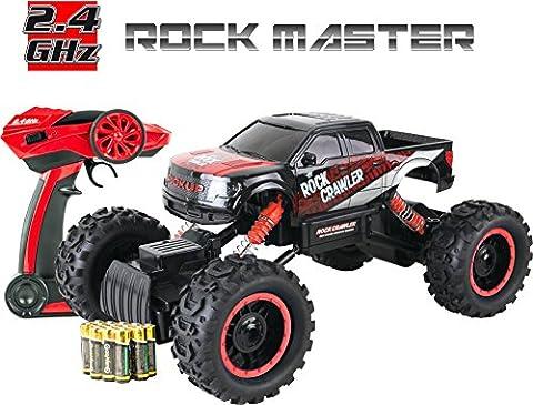 Große Ferngesteuertes Auto für Kinder - Rock Crawler 4x4 RC Auto – 1/14 Rock Master Rock Crawler mit 2,4GHz Fernsteuerung