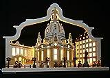 3D Schwibbogen Dresden Frauenkirche mit Bogen Handarbeit Erzgebirge erzgebirgischer
