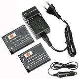 DSTE(2 Pack)Ersatz Batterie und DC146E Reise Ladegerät Kit für Panasonic DMW-BCN10 Lumix DMC-LF1 DMC-LF1K Lumix DMC-LF1W Kamera als Panasonic DMW-BCN10E DMW-BCN10PP