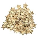 HEEPDD 200 Piezas de Confeti, Estrella de Cinco Puntas confetis Brillantes Esponja no Tejida Colorida Accesorio Decorativo de la Estrella Fiesta de cumpleaños de la Boda decoración de rociado(Dorado)
