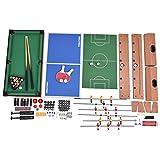 Multifunktionsspieltisch Multi-Spieltisch Multigame 4 in 1 Tischfußball Billard Tischtennis Hockey - 6