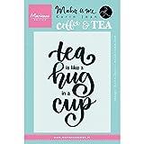 Marianne Design KJ1710 Transparente Stempel Quote 'Tea is Like A Hug in A Cup', Silikon, Black, 13.5 x 9.0 x 0.5 cm