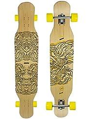 Koston Bamboo Longboard Complete Board Dancer Cruiser Illusion 46.0 x 9.0 inch - Professional Longboard Carver - Carving Dance Longboard