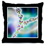 CafePress DNA replication Throw Pillow - w/insert Multi-color