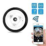 Fisheye Objektiv Kamera, IP-Überwachungskamera Home Wireless HD 1080P Überwachungskamera Mit Nachtsicht, 360 ° HD Weitwinkel-Zwei-Wege-Audio-Fernbedienung Bewegungserkennung Alarm Für Baby / Elder / Pet / Nanny