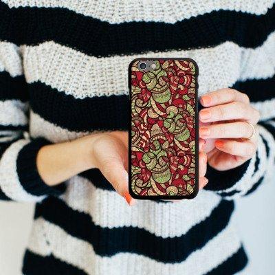 Apple iPhone 6 Housse Étui Silicone Coque Protection Cercles Oriental Ethnique CasDur noir
