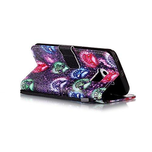 Sunroyal Etui Lederhülle für Samsung Galaxy S6 Edge Diamant Bling 3D Rhinestone Book Type Schutzhülle Magnetverschluss PU Leder Hülle Flip Tasche Wallet Case Cover HandyHülle Bookstyle Brieftasche mit Pattern 11
