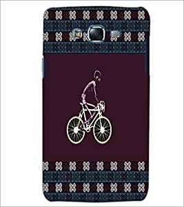 PrintDhaba Cycling Skeleton D-4578 Back Case Cover for SAMSUNG GALAXY ON 5 (Multi-Coloured)