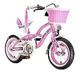 BIKESTAR® Premium Design Kinderfahrrad für coole Kids ab 3 Jahren ★ 12er Deluxe Cruiser Edition ★ Glamour Pink thumbnail