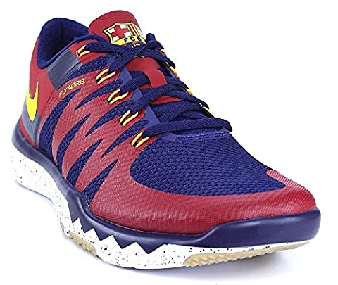 Nike Free Trainer 5.0 V6 AMP LTD FCB Barca Barcelona Laufschuhe Aktuelles Modell 2015 blau/rot/gelb, Schuhgröße:EUR (Nike Free Trainer Rot)