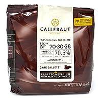 Callebaut N° 70-30-38 (70,5%) - Chocolat de Couverture Noir Belge - Finest Belgian Dark Chocolate (Callets) 400g. Recipe N° 70-30-38 Si vous êtes en quête de noir et d'intensité. La recette n° 70-30-38 est l'un des chocolats noirs de référence pour d...