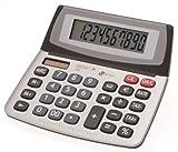Genie 550 TE 10-stelliger Business-Tischrechner (Dual-Power (Solar und Batterie), Jumbo-Display, Inkl. Währungsumrechnun) silber / grau