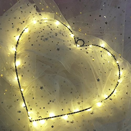 LQZ Herz LED Nachtlicht Leuchtend Lampe Babyzimmer Kinderzimmer Licht mit Batterie Party Bar Kindergeburtstagsparty Mitgebseln