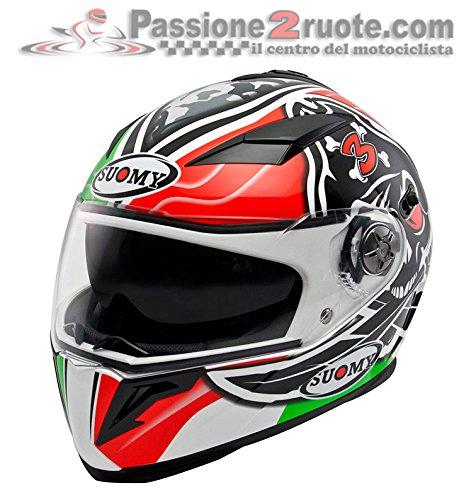 Suomy Helm Halo 58 Bianco/Rosso/Nero/Verde (Helme 4 Halo)