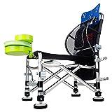 HJXJXJX Fischen-Stuhl im Freien Eis-Fischen-Arm-Stuhl Multifunktionsfaltender Aluminiumlegierungs-Fischen-Hocker 87 * 53 * 39 cm , C