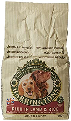 Harringtons Complete Lamb and Rice Dry Mix Dog Food, 2 kg, Pack of 4