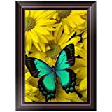 Adarl 5D DIY Diamond Painting Rhinestone Pictures of Crystals Embroidery Kits Arts Crafts & Sewing Cross Stitch 30 * 40cm/11.81 * 15.75inch Daisy & Butterfly