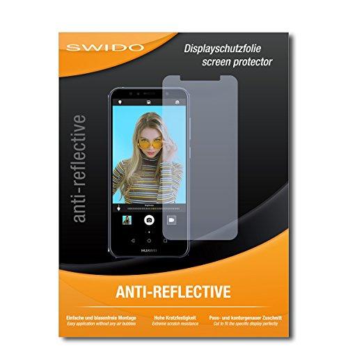 SWIDO Schutzfolie für Huawei Y6 Prime (2018) [2 Stück] Anti-Reflex MATT Entspiegelnd, Hoher Härtegrad, Schutz vor Kratzer/Bildschirmschutz, Bildschirmschutzfolie, Panzerglas-Folie