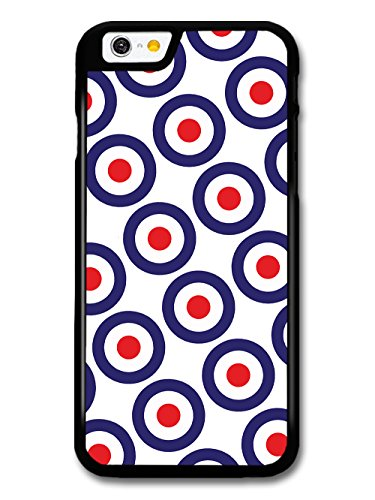 classic-mod-target-pattern-on-white-minimalist-design-case-for-iphone-6-6s