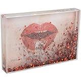 fisura. DC0814 Cadre-Photo Paillettes Rouges Coeurs pour 1 Photo 10x15 cm Transparent...