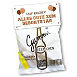 Lustige Gummibierchen (1x150g) Geburtstagsedition von Vaterbier, Fruchtgummi mit Biergeschmack