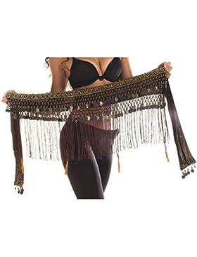 Emporio turco danza del vientre tribal cinturón con flecos