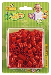 Hama 8505 - Cuentas para Planchar, Color Rojo
