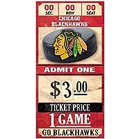 WinCraft Chicago Blackhawks NHL Ticket Schild